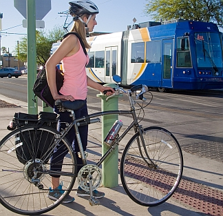 Bicycle Rider and the Sun Link